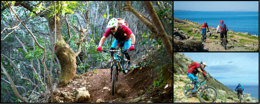 Collage Photos of our MTB Tours Crete